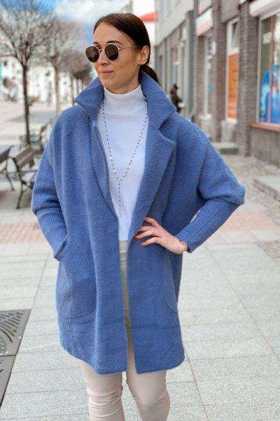 Płaszcz alpaka niebieska 1