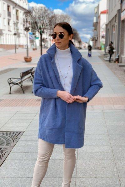 Płaszcz alpaka niebieska 3