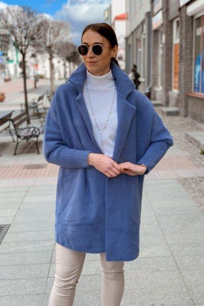 Płaszcz alpaka niebieska 4