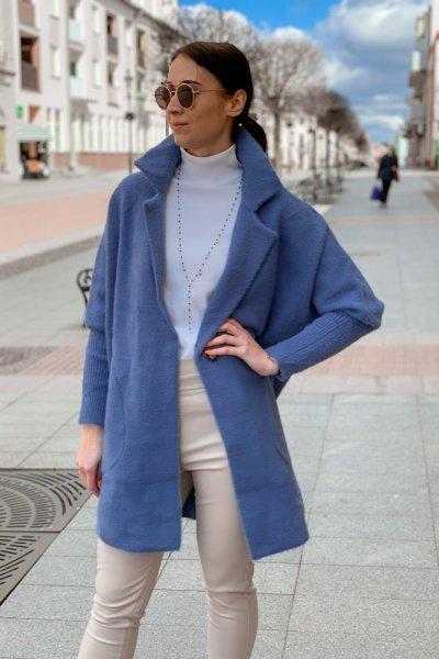 Płaszcz alpaka niebieska 5
