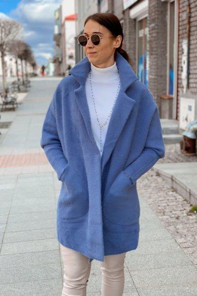 Płaszcz alpaka niebieska 6