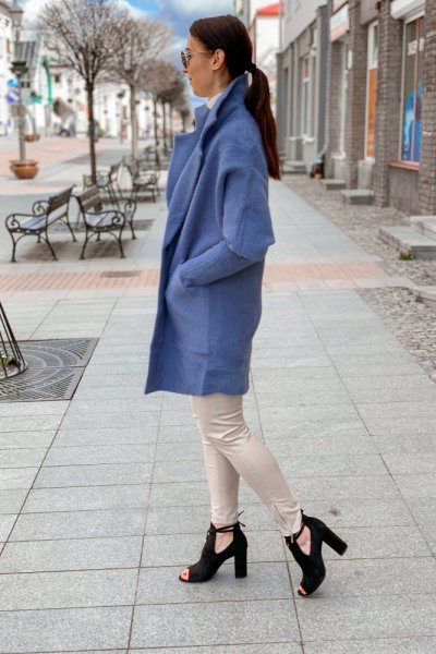 Płaszcz alpaka niebieska 7