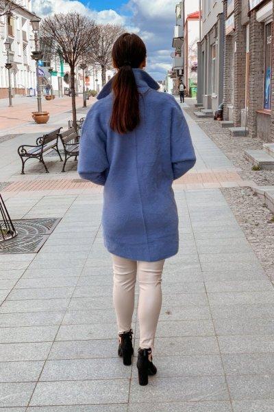 Płaszcz alpaka niebieska 8