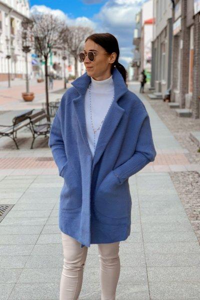 Płaszcz alpaka niebieska 9