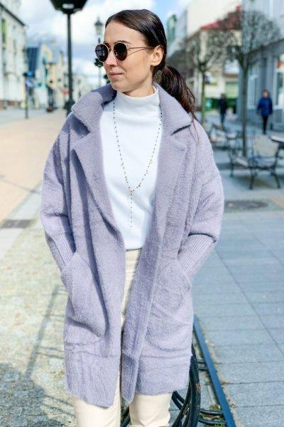 Płaszcz alpaka szara