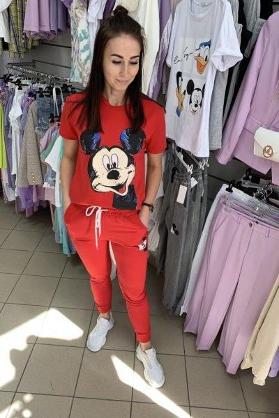 Komplet dres Miki czerwony