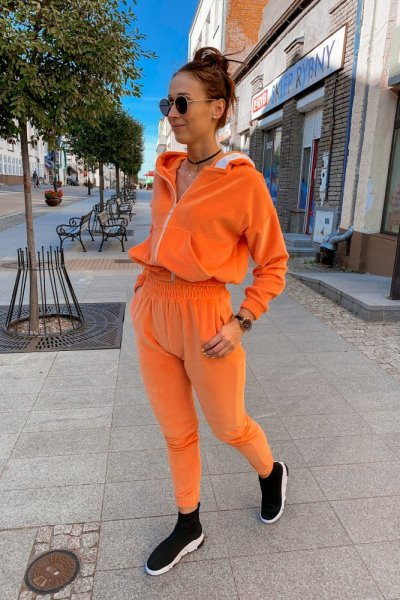 Komplet dres chlooe pomarańczowy