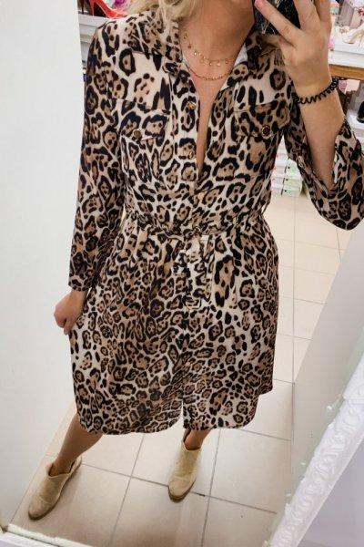 Sukienka Midi print pantera