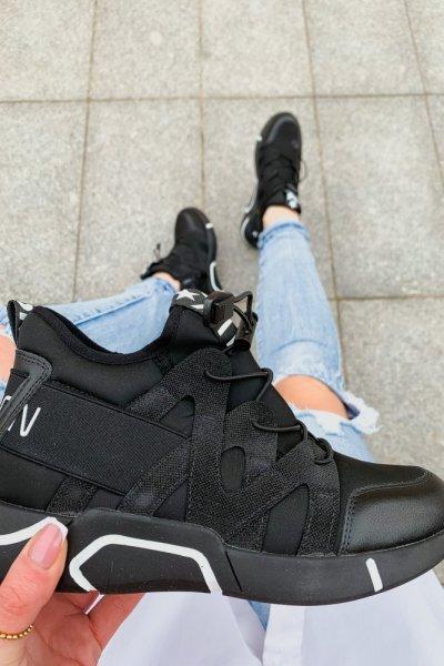 Adidasy Czarno-białe ze ściągaczem