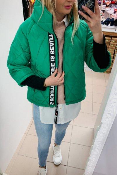 KURTKA PARYŻANKA KRÓTKA Zielona 1