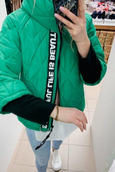 KURTKA PARYŻANKA KRÓTKA Zielona 3