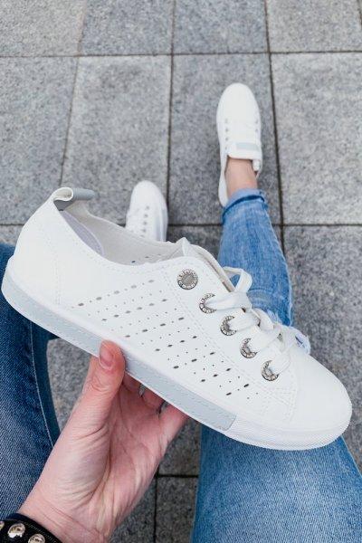 tenisówki biało-szare