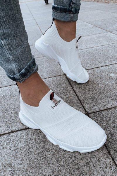 ADIDASY białe siatka Fashion
