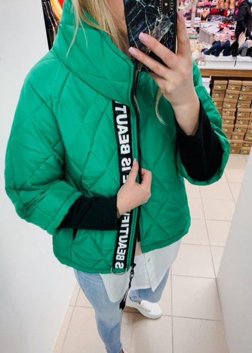 KURTKA PARYŻANKA KRÓTKA Zielona
